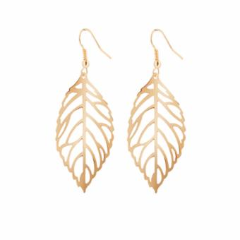Goldtone Alloy Leaf Earring Dangling by Zumqa Price Philippines