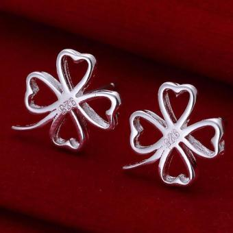 Amart Sterling Silver Hollow Four Leaf Clover Earrings(Silver) Price Philippines