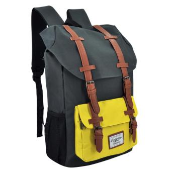 Harga Everyday Deal Travel Laptop Backpack (Grey/Yellow)