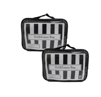 "Balikbayan 20"" Bag Set of 2 (Black) with Carry-on Bag Price Philippines"
