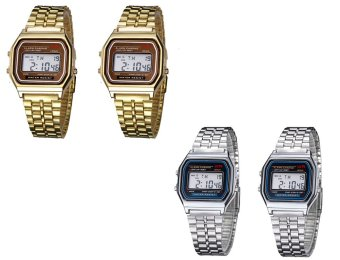Harga LANDFOX Men's Gold/Silver Stainless Steel Strap Watch set of 4