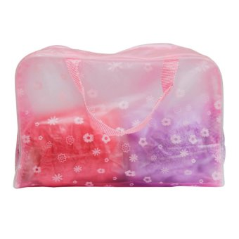Wawawei Waterproof transparent travel cosmetics storage bag (Pink) #32250 Price Philippines