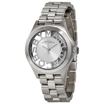 Harga Marc Jacobs Henry Skeleton Silver-plated Watch MBM3291