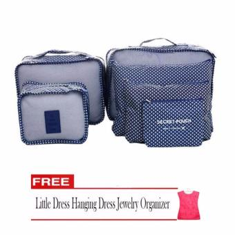 Harga Bags in Bag 6 in 1 (Navy Blue) with Free Jewelry Hanging Dress Organizer (Color May Vary)