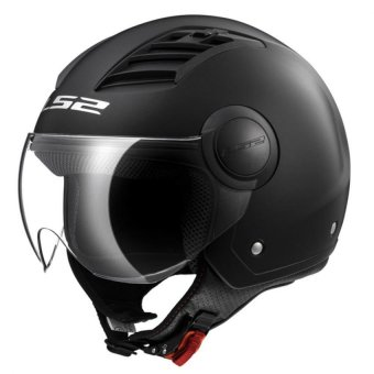Harga LS2 Open Face OF562 Airflow Jet Helmet (Matte Black)