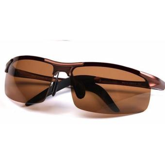 Harga Mincl Polarize Hi Performance Men's Sunglasses (Brown)