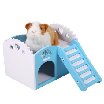 Pet Hamster Mouse Small Animal Castle Sleeping House Exercise Play Toy Blue - intl Price Philippines