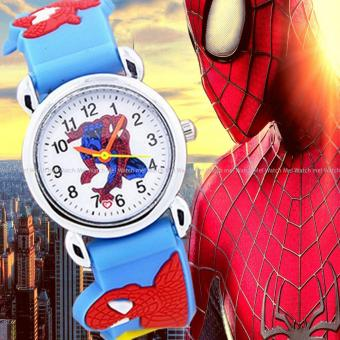 WM Kid's Marvel Spiderman Kids Cartoon Character Rubber Strap Boys Watch Price Philippines