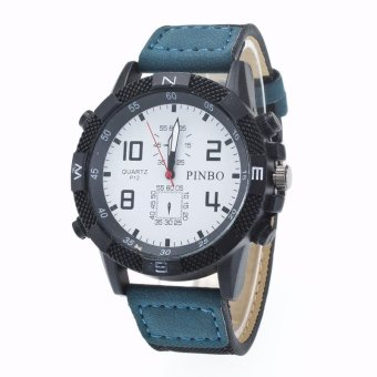 Fashion Brand Women's Round Dial Watch Case False Eyes Digital Cortex Canvas Wristwatch - intl Price Philippines