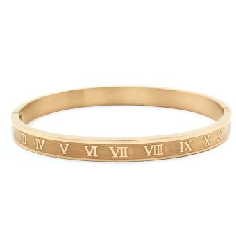 Venice Roman Numerals Clip Bangle (Rose Gold) Price Philippines