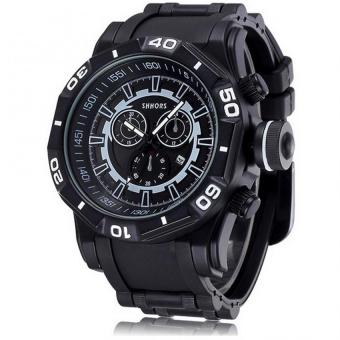 Cool Waterproof Men's Plastic Strap Watch (Black) Price Philippines