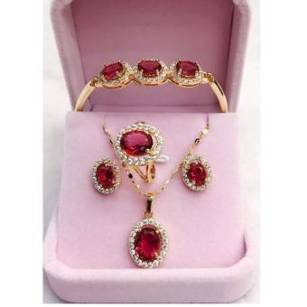 Harga Mei Mei Ruby 4 in 1 Jewelry Set