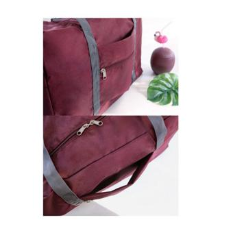 Wawawei Folding Waterproof Trolley Case Traveling Carrying Bag(Maroon) #32487 Price Philippines