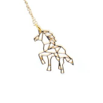 Patrick Lovebird Unicorn Origami Long Necklace (Gold Tone) Price Philippines