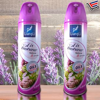 Harga LiangLi Air Freshener Spray with Oil Essential 480mL (Lavander) Set of 2