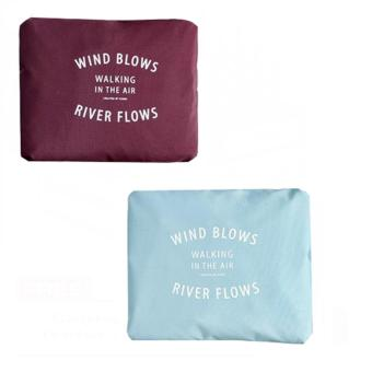 Wind Blows Folding Carry Bag (Maroon,Light Blue) Set Of 2 Price Philippines