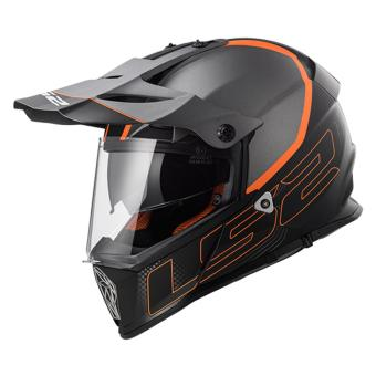 Harga LS2 Motard MX436 Element Helmet (Matt Titanium Black Orange)