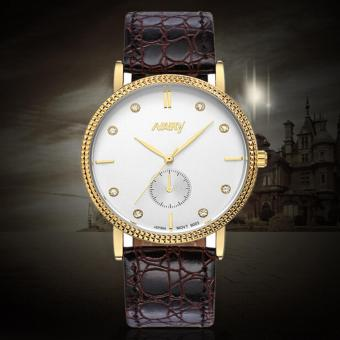 Harga Nary Leather Strap Women's Watch NR9003 (Gold)