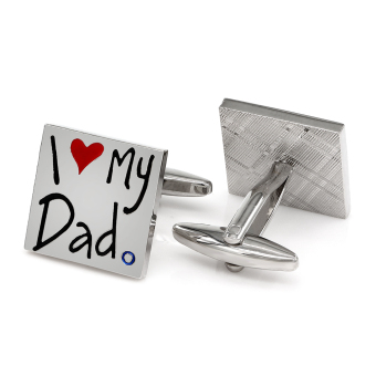 Kemstone I Lover My Dad Cufflinks Father's Day Gift - intl Price Philippines