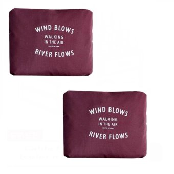 Wind Blows Folding Carry Bag (Maroon) Set Of 2 Price Philippines