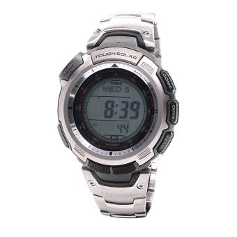 Harga Casio Watch Pro Trek Tough Solar Silver Titanium Case Titanium Bracelet Mens NWT + Warranty PRG-110T-7V