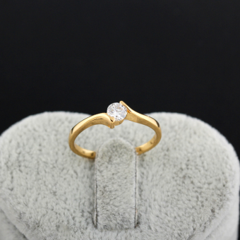 18K Gold Plating Gemstone Inlaid Wedding Engagement Finger Ring 16MM Price Philippines
