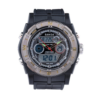 SANDA Men s' Fashion Outdoor Sports Waterproof Electronic Watch(gold) Price Philippines