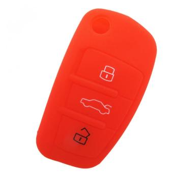 Car Silicone Key Case Cover for Audi A1 A3 Q3 Q7 R8 A6L (Red) - intl Price Philippines