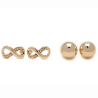 Harga Piedras Two in One Earrings (Gold)