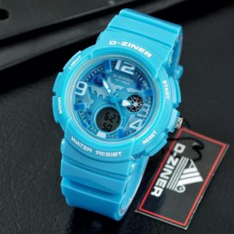 Harga D-ZINER Lady Gaga Sporty Watch for Ladies (LIGHT BLUE)