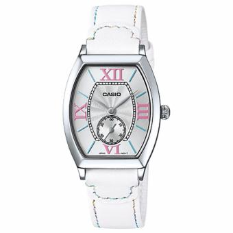 Casio White Leather Roman Dress Watch LTP-E114L-7A Price Philippines