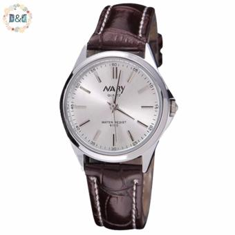 Harga Nary Women 6100 Leather Strap Watch (Brown)