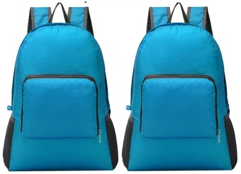 Foldable Bag Pack (Blue) Set of 2 Price Philippines