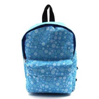 Harga Happy Kids Durant Kids Unisex Backpack Polka dots Design (Blue)