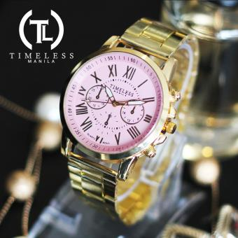 Timeless Manila Candice Roman Numeral Chrono Metal Watch (Old Rose) Price Philippines