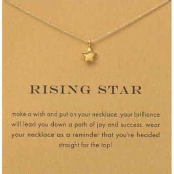 Harga RISING STAR pendant necklace gold dipped 06 grams