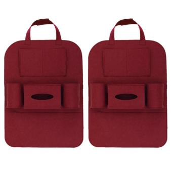 Portable Car Backseat Organizer Set of 2 (Maroon) Price Philippines