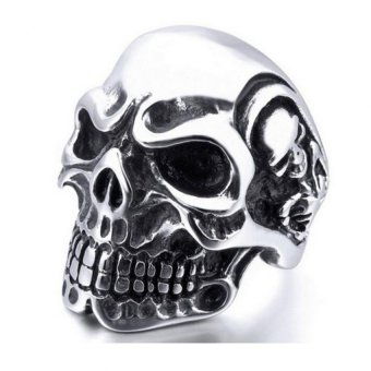 Amango Men Rings Skull Punk Stainless Silver Price Philippines