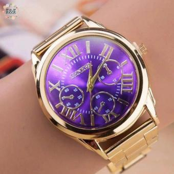 Geneva SY-3 Roman Numerals Women's Gold Steel-belt Watch Price Philippines