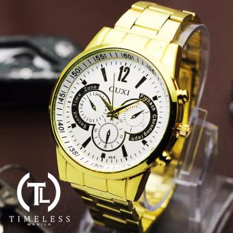 Timeless Manila Adrian Chrono Steel Watch (Gold) Price Philippines