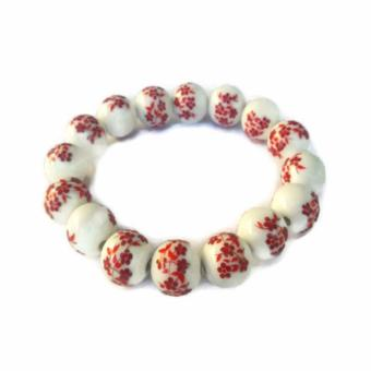 Harga Be Lucky Charms Feng Shui Red Ceramic Big Bead Bracelet