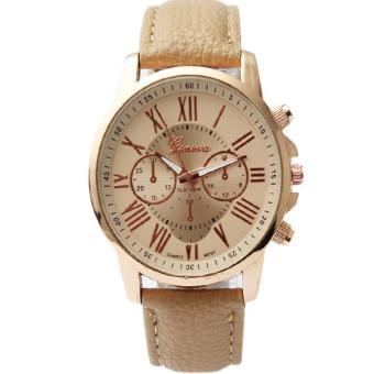 Geneva Women's Roman Brown Leather Strap Watch Price Philippines