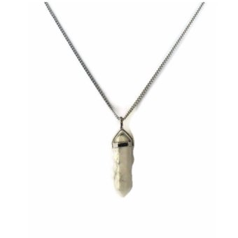 Harga Be Lucky Charms Feng Shui Stainless Steel White Howlite Necklace