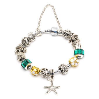 Athena & Co. Tropical Paradise Charm Bracelet (Green/Gold/Silver) Price Philippines
