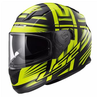 Harga LS2 Full-Face FF320 Bang Helmet (Black/Yellow)