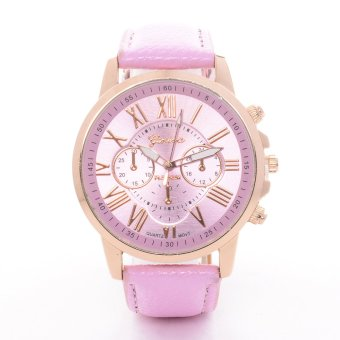 Geneva Roman Numerals Faux Leather Strap Pink Price Philippines