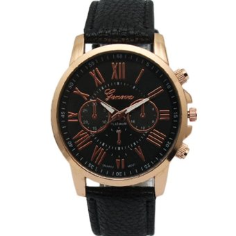 Geneva Women's Roman Black Leather Strap Watch Grnblk-1 Price Philippines