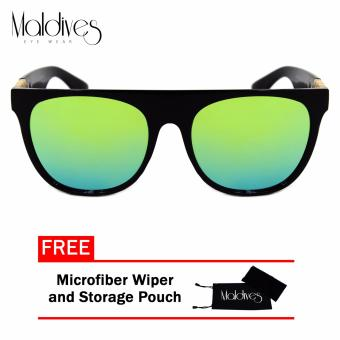 Maldives H8015-Y Moby Men's Super-Hot Wayfarer Style Summer Sunglasses(Ocean Green/Black) Price Philippines
