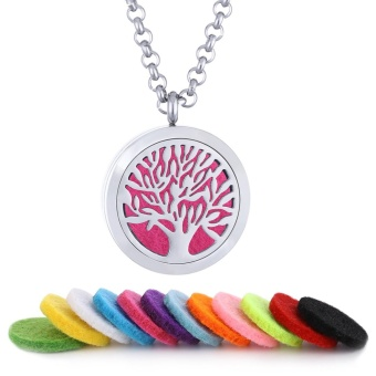 Hope Tree Hollow Aromatic Essential Oil Necklace Essential Oil Diffuser Stainless Steel Pendant Aromatherapy - intl Price Philippines