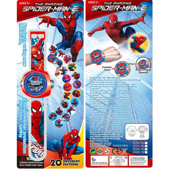 Harga Super Heroes Cartoon Spider-man Quartz Watch Educational Toys For Children Boys - intl